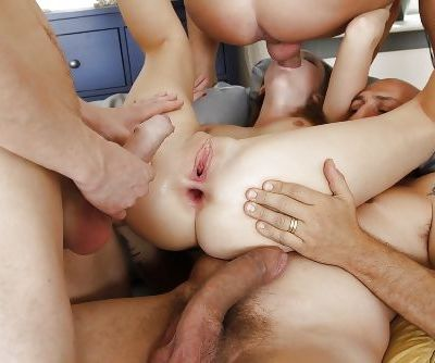 Lili Lamour gets gangbanged by a group of pussy starved cocks