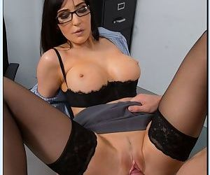 Lecherous teacher in glasses Diana Prince fucks her studly student