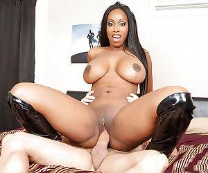 Ebony milf Codi Bryant has her big tits teased and pussy fucked