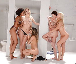 Hot lesbians Nadia Styles- Natalia Starr and Skin Diamond toying themselves