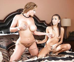 Hardcore lesbian sex with two beautiful models Eva Notty and Janice