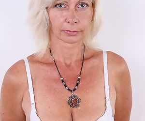 Aged Euro lady Beata tries nude modeling to pay mounting bills