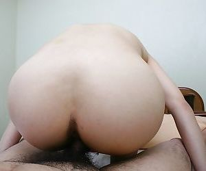 Asian MILF gives a nooky and gets her hairy cunt nailed and cocked up