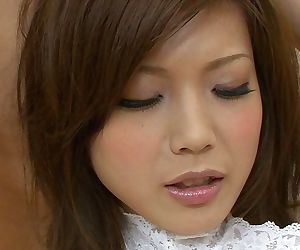Horny Japanese teen Mari Sasaki gets roughly banged in a kinky threesome