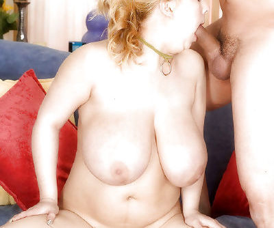 Chesty blonde BBW taking hardcore fucking of hairy vagina after giving bj