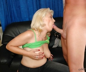 Big busted mature blonde gets slammed hardcore and pissed on