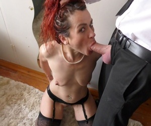 Redhead amateur Monica Bollocksy gets butt fucked after hard mouth fucking