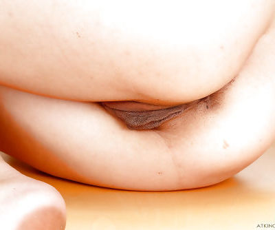 Petite Asian amateur Miko Dai parting her labia lips for clit rubbing