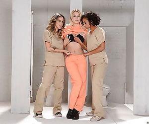 Three horny lesbians Nadia Styles- Natalia Starr and Skin Diamond posing