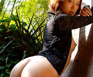 Fuckable asian babe Asami Ogawa uncovering her tempting curves