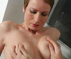 Aged mature lady Nensy having her pussy fingered before intercourse