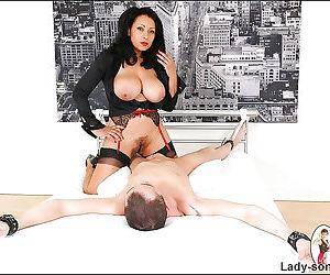 Big busted mature fetish brunette enjoys sensual titty fucking