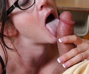 Crazy granny in black stockings Alexa fucks hard gets a portion of cum on tits