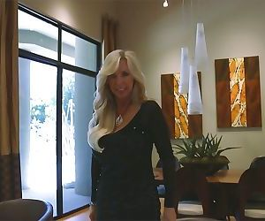 Lusty housewife gives a handjob for a cumshot on her eager face and big tits