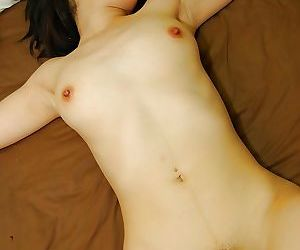 Naughty asian MILF gets her hairy pussy fingered and cocked up