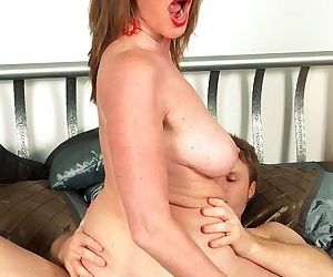 Loud moaning is all what gets out of womans mouth when she is bonked