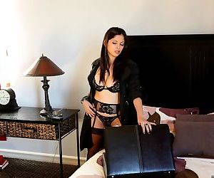 Big titted Latina mom Evie Delatossa changes into sexy lingerie