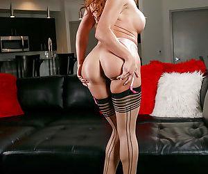 Latina babe Mia Lelani modelling sexy lingerie from Victorias Secret