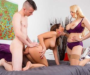 Jimena Lago gets some help from stepmom Angel Wicky in a threesome