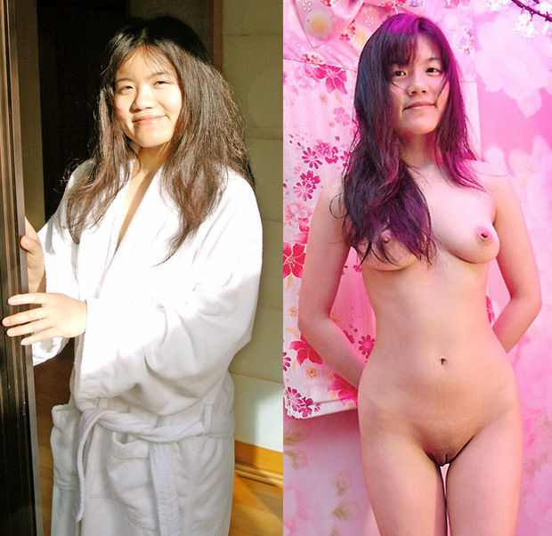 Asian dressed undressed