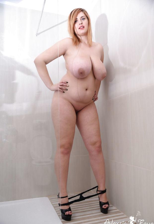 Alexsis Drops Her Panties In the Shower