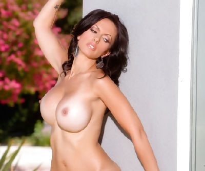Brunette in sexy bikini enjoys taking it off and masturbating like a true pornstar