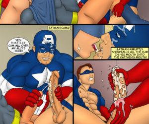 Iceman Blue- Captain America Robin and Batman