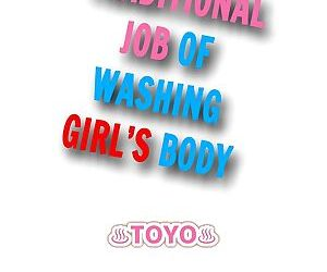 Traditional Job of Washing Girls Body - part 13