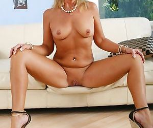 Tender pussy of sexy mature woman has to be free and clothes are redundant