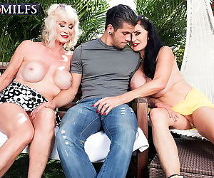 Lucky dude fucking two horny grannies - part 1903