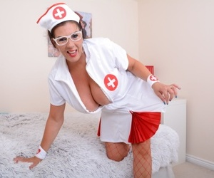 British big breasted lulu dresses up as a nurse - part 321