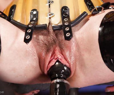 Young slut Juliette March tortured with electroshock in bondage