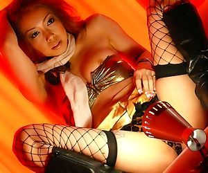 Japanese Nozomi Uehara surprises with blowjob and hot sex in fishnet stockings