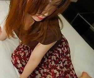 Nasty asian MILF with shaggy cunt Yumi Kajiyama slipping off her clothes