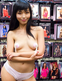 Japanese slut marica is shamed in an adult store in front of a group of horny gu - part 91