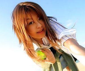 Asian idol nagisa sasaki poses outdoors shows tits - part 3793