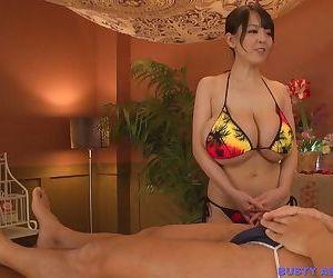 Busty asian hitomi tanaka big tits in colored bikini - part 1152