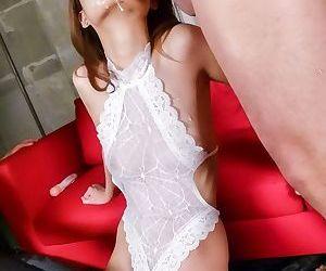 Asian babe riina fujimoto sucks cocks till facials - part 753