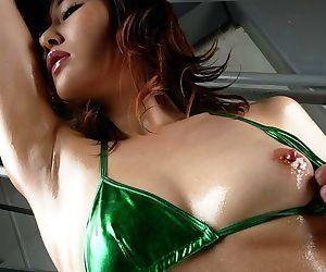 Asian wakako hujimori shows oiled ass and hot tits - part 3794