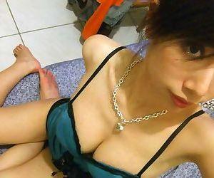 Real amateur asian girlfriends teasing on cam - part 4476