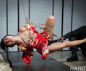 He stands her on her toes next, and begins the training in pain and pleasure aga - part 631