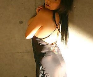 Busty japanese yuki in a black dress - part 4447