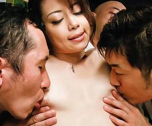 Kinky maki hojo takes on a group of horny guys with stiff dicks - part 4140