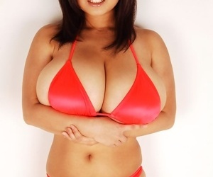 Japanese av idol fuko love posing gigantic natural big tits in bikini - part 2672