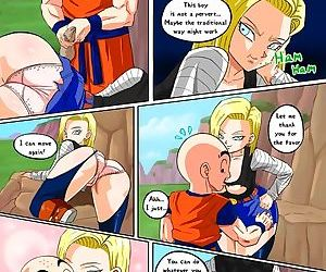 Dragon Ball Z- Android 18 meets Krillin-