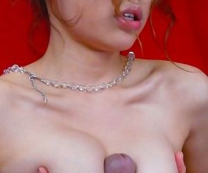 Busty Japanese slut Ai Sakura gets rammed and jizzed in a threeway session