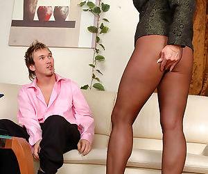 Chubby mature business woman in sheertowaist hose getting banged - part 3149
