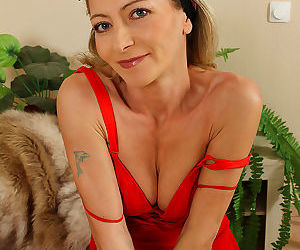Elegant and petite syndi bell from allover30 posing in her sexy dress-syndi bell - part 6