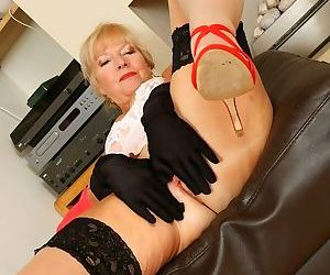 Sapphire louise horny mom in red suit and stockings strips - part 12