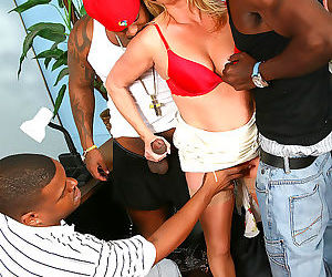 Ginger lynn gets double penetrated by three hung black brothas - part 12